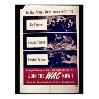 Join The Wac Now Post Cards