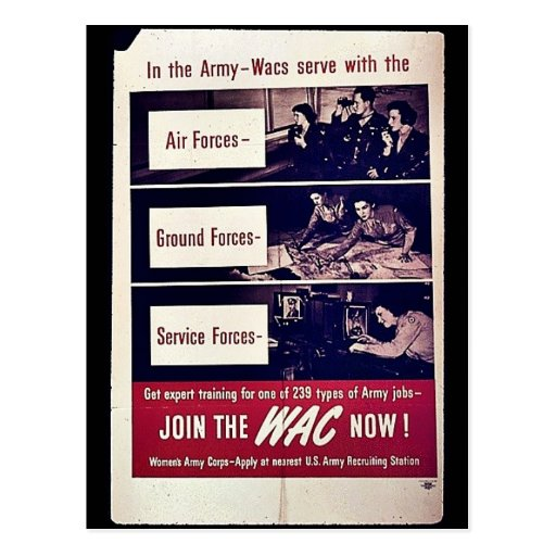 Join The Wac Now! Post Cards