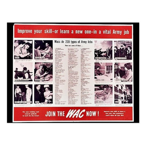 Join The Wac Now! Post Card