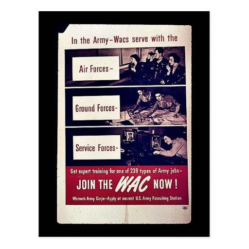 Join The Wac Now! Postcard