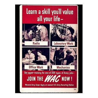 Join The Wac Now Postcard