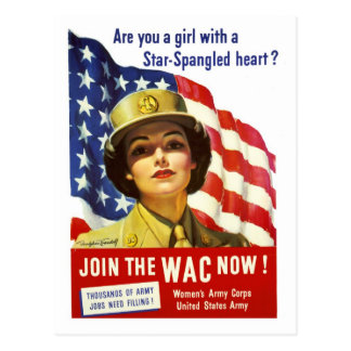 Join the WAC now War Poster Post Card