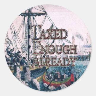 Join theTEA Party Supplies Round Sticker