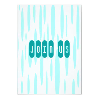 """Join Us 5"""" X 7"""" Invitation Card"""