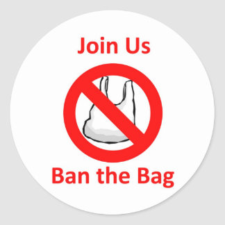 Join Us, Ban the bag around the World Classic Round Sticker