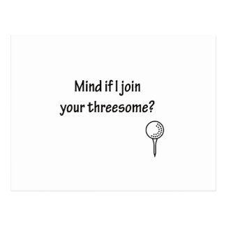 i joined a threesome golf