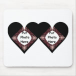 Joined Hearts Fractal Art Frame Mouse Pad