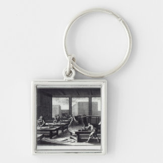 Joiner's workshop keychain