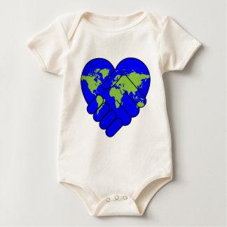 Joining hands baby bodysuit