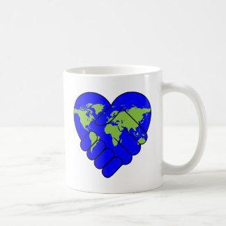 Joining hands coffee mug