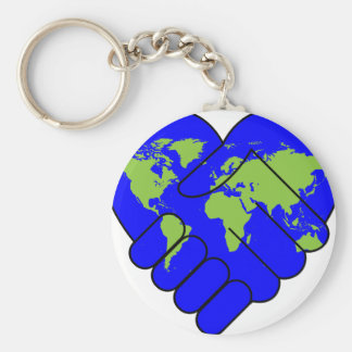 Joining hands keychain