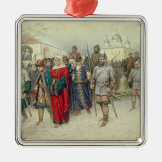 Joining of Great Novgorod Silver-Colored Square Ornament