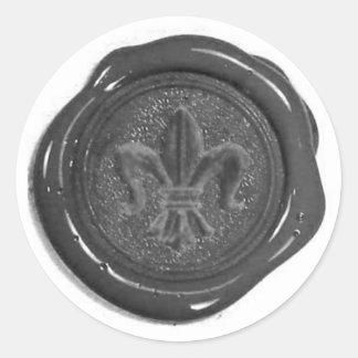 Joint de cire de Faux Sticker Rond