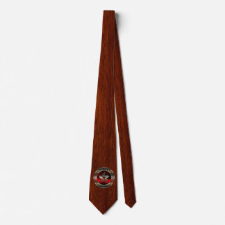 Joint de Hong Kong sur la copie d'acajou Cravate Avec Motifs