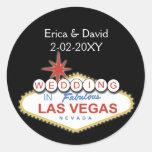 Joint d'enveloppe de mariage de Vegas Adhésif Rond