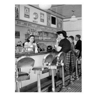 joint d'hamburger des années 1940 cartes postales