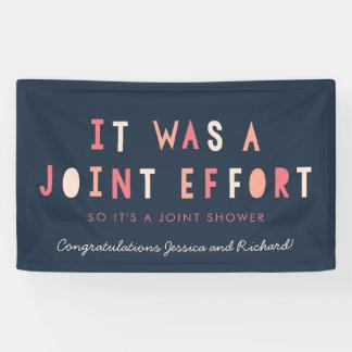 Joint Effort Couple's Baby Shower Banner // Navy