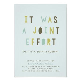 Joint Effort Couple's Baby Shower Invitation