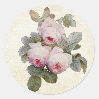Joint rose vintage d'enveloppe de Bourbon Sticker Rond