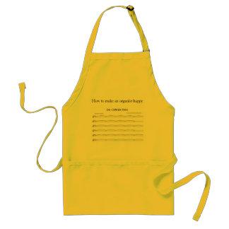 Joke apron for organists and organ builders