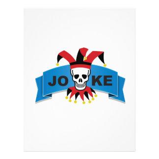 joke blue death banner customized letterhead