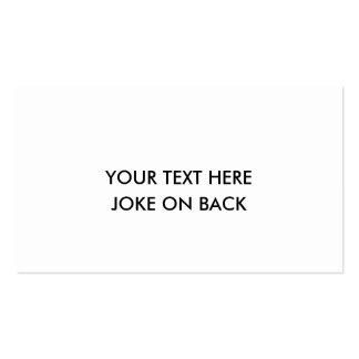 joke card - MAKE A JOKE ON THE BACK OF YOUR CARD Pack Of Standard Business Cards