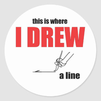 joke taking too far drawing line memes please stop classic round sticker