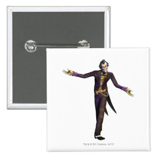 Joker Arms Out 2 Inch Square Button