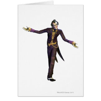 Joker Arms Out Greeting Card