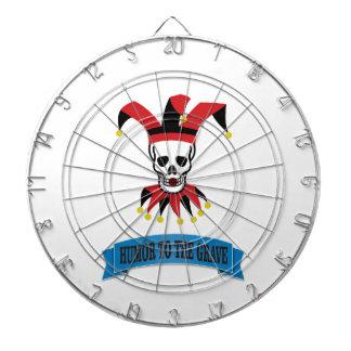 joker art jester dartboard with darts