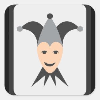 Joker Card Emoji Square Sticker