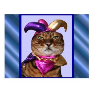 Joker Cat Postcard