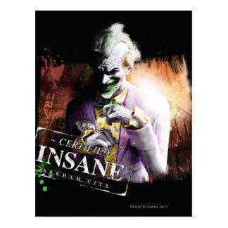 Joker - Certified Insane Postcard
