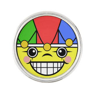 Joker Face Lapel Pin