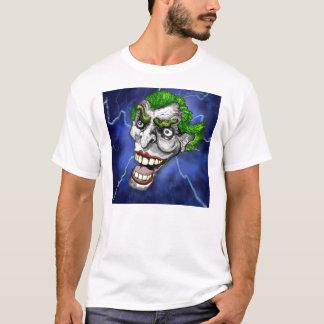 Joker Jester in a Lightning Storm by Doug LaRue T-Shirt