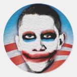 Joker Obama Round Stickers