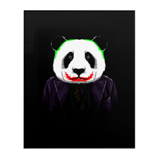 joker panda acrylic print