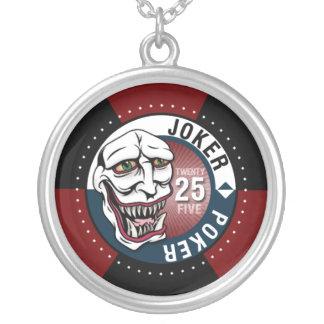 Joker Poker Necklace - Maroon