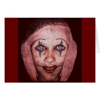 Joker Raggedy-Ann Clown With Swirly Eyes Card