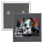 Joker - There's Plenty Wrong With Me! 2 Inch Square Button