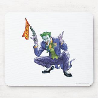 Joker with fake gun mousepads