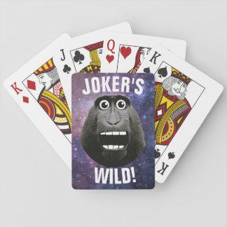 Joker's Wild Grinning Monkey Playing Cards