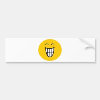 Joking around Smiley face Car Bumper Sticker