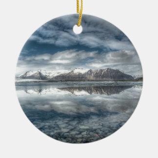 Jokulsarlon glacial lagoon, Iceland Ceramic Ornament