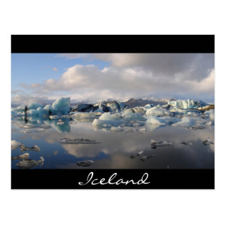 Jokulsarlon glacier lake in Iceland Postcard