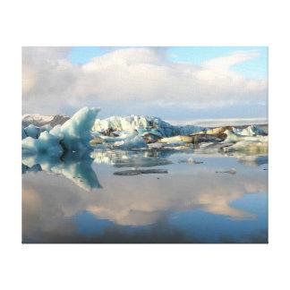Jokulsarlon iceberg lake reflection canvas