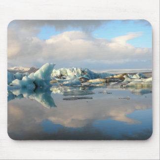 Jokulsarlon iceberg lake reflection mousepad