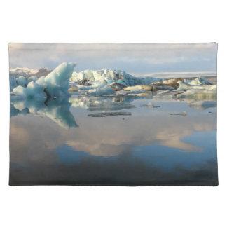 Jokulsarlon iceberg lake reflection placemat