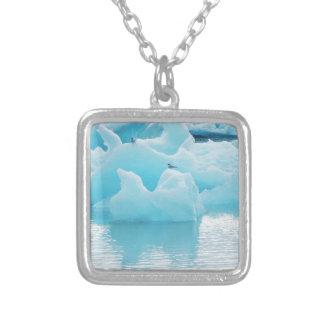 Jökulsárlón terns silver plated necklace