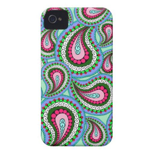 Joli cas de téléphone de Paisley Coques iPhone 4